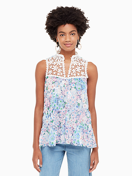 daisy garden devore top by kate spade new york