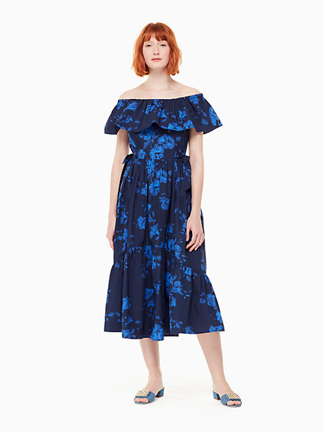 hibiscus off the shoulder dress by kate spade new york