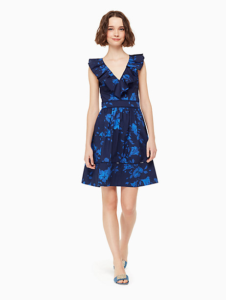 hibiscus ruffle neck dress by kate spade new york