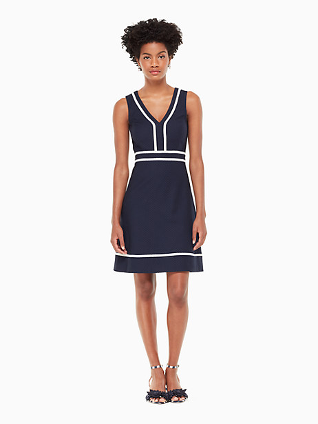solid jacquard a-line dress by kate spade new york