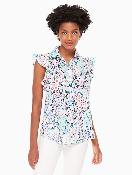 daisy garden ruffle sleeve top by kate spade new york