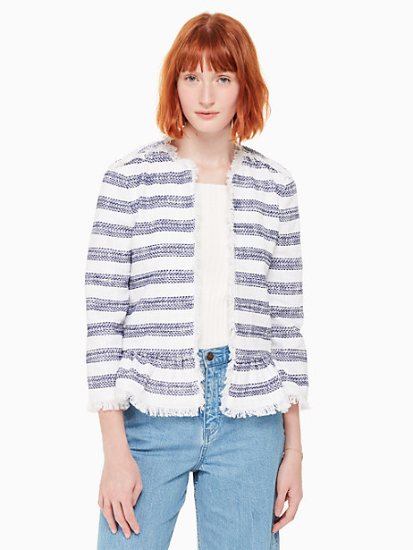 stripe tweed jacket by kate spade new york