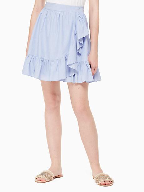 ruffle wrap mini skirt by kate spade new york
