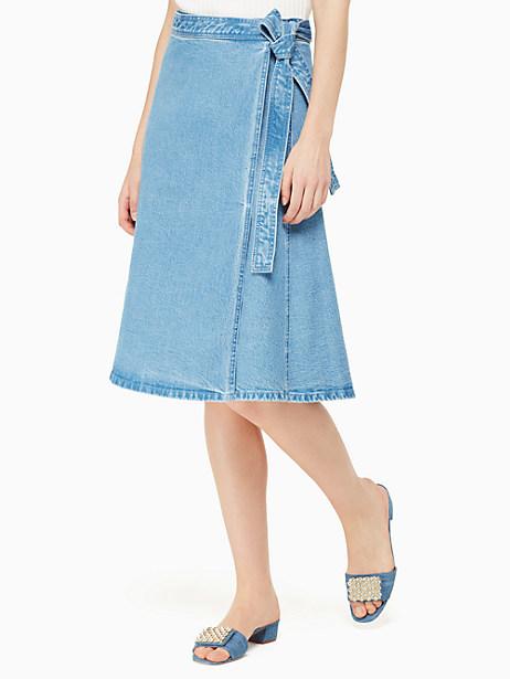 vintage denim wrap skirt by kate spade new york