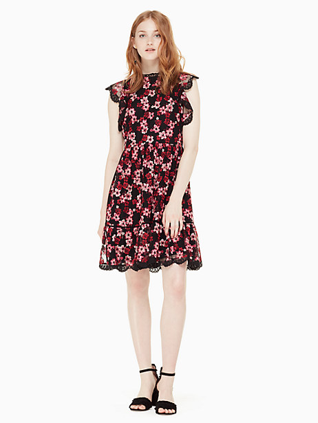 embroidered tulle mini dress by kate spade new york