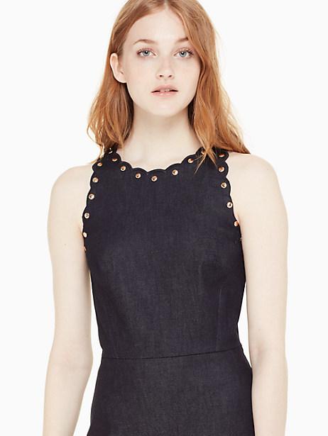denim a-line dress by kate spade new york