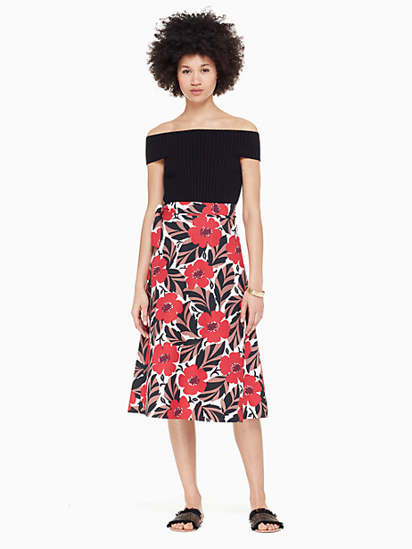 poppy field wrap skirt by kate spade new york