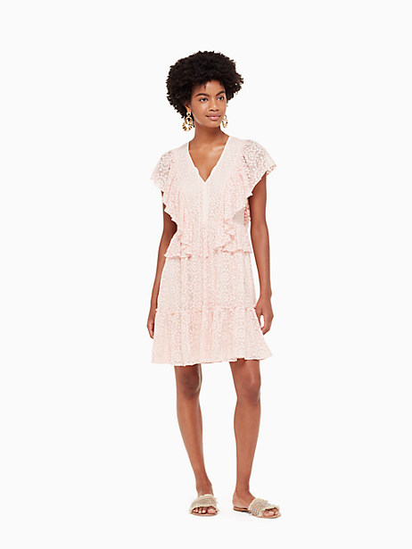 embroidered chiffon dress by kate spade new york