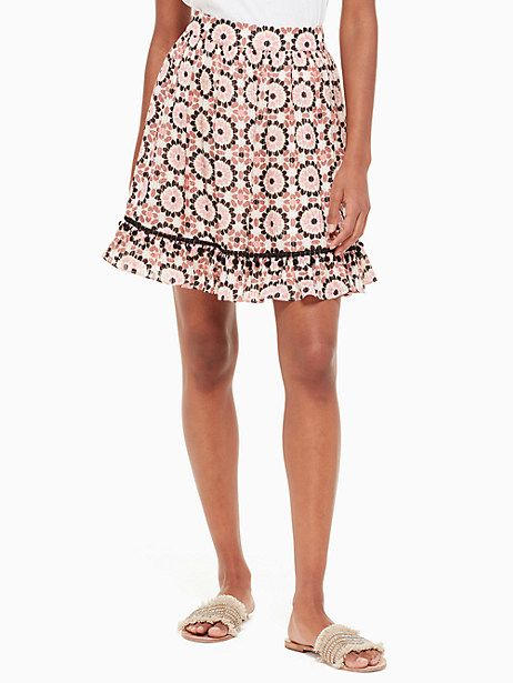 floral mosaic chiffon skirt by kate spade new york