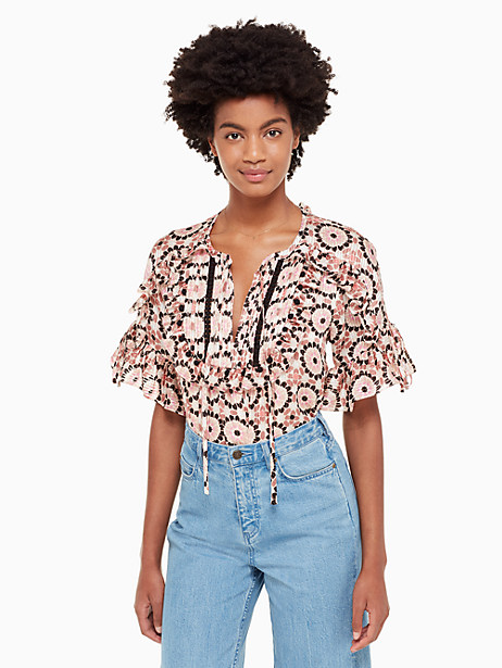 floral mosaic chiffon top by kate spade new york