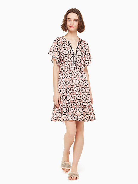 floral mosaic flutter dress by kate spade new york