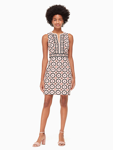 floral mosaic jacquard dress by kate spade new york