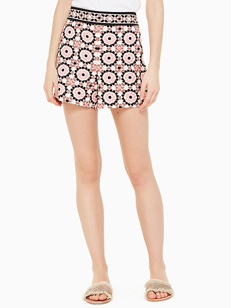 floral mosaic jacquard short by kate spade new york