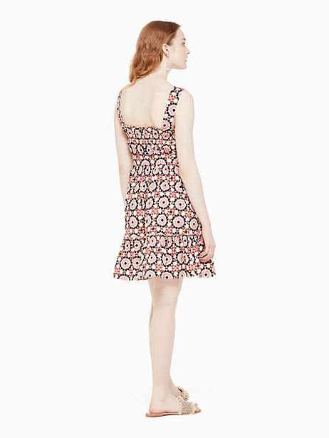 floral mosaic poplin dress by kate spade new york