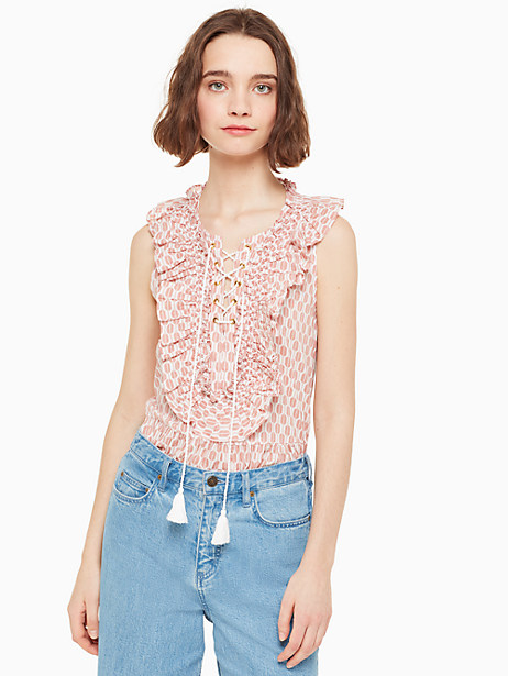 arrow stripe lace up top by kate spade new york