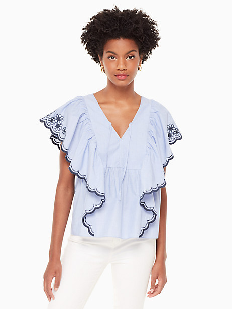 daisy embroidered top by kate spade new york