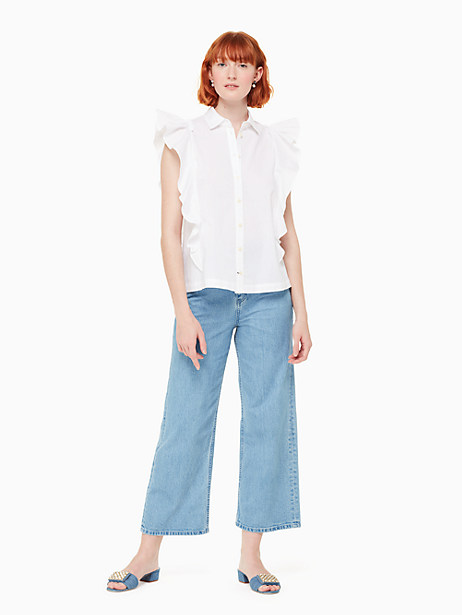 flutter button down top by kate spade new york