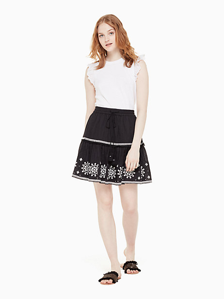 mosaic embroidered skirt by kate spade new york