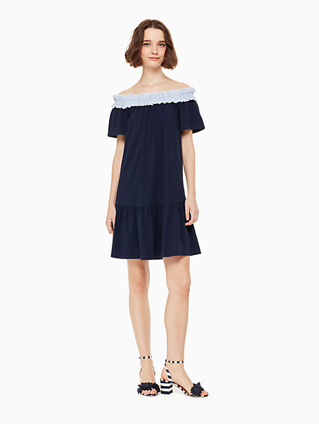 off the shoulder knit dress by kate spade new york