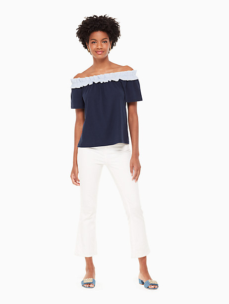 off the shoulder knit top by kate spade new york