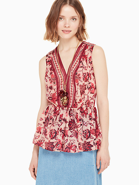 paisley blossom top by kate spade new york