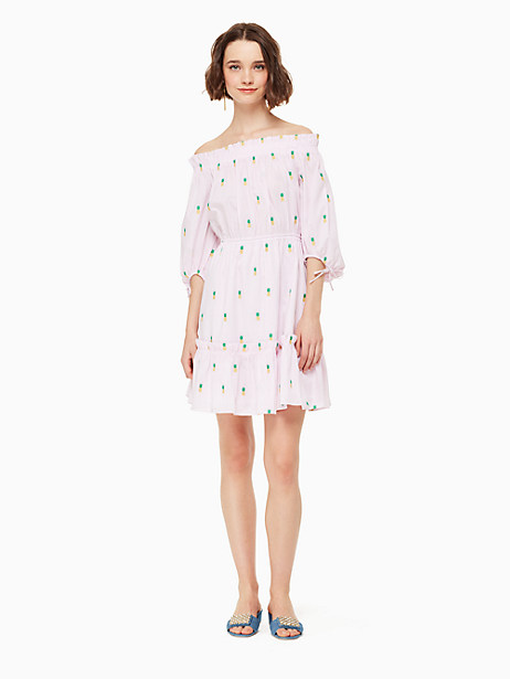 pineapple off the shoulder dress by kate spade new york
