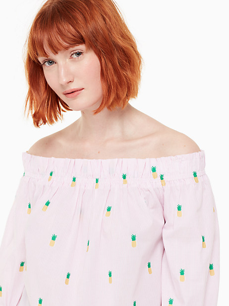 pineapple off the shoulder top by kate spade new york