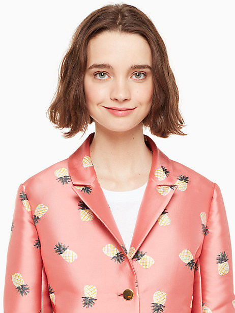 pineapple jacquard jacket by kate spade new york