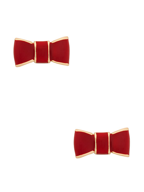 kate spade red bow stud earrings