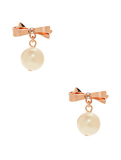 love notes pave pearl drop earrings by kate spade new york