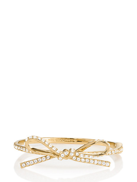 Skinny mini pave bow bangle from kate spade