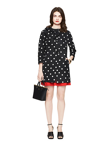 darling kate spade dot bow coat