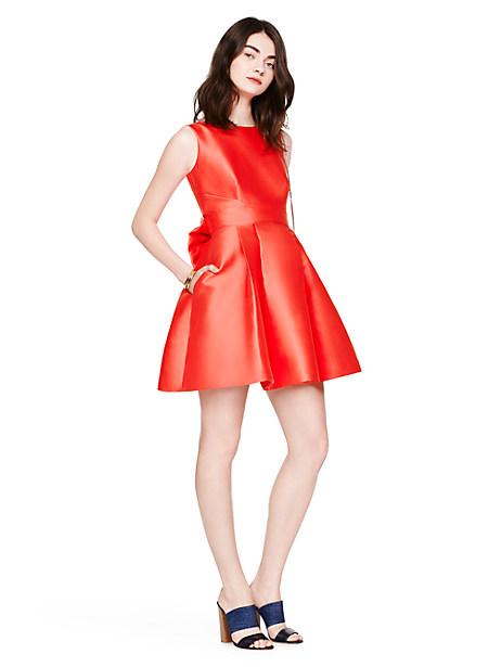 Kate Spade Open Back Silk Mini Dress, Geranium - Size 0