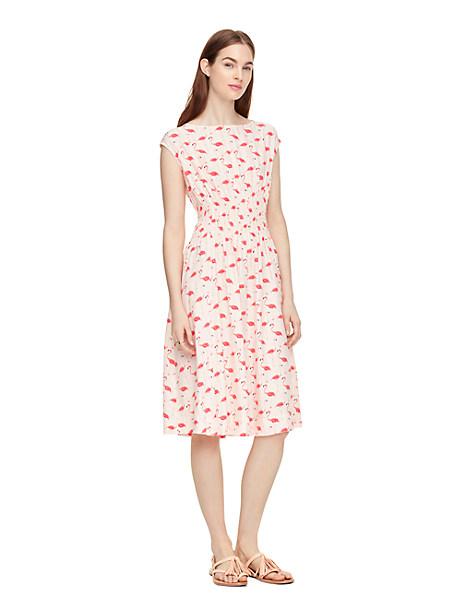 Kate Spade Flamingo Blaire Dress, Shell - Size 00