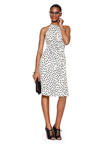 Kate Spade Leopard Dot Tie Back Dress, Shell - Size 10