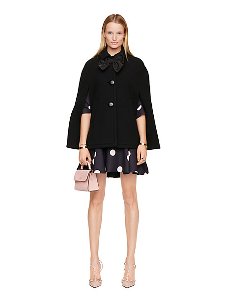Kate Spade Bow Capelet, Black - Size M