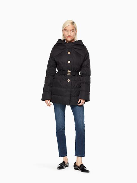 Kate Spade Becky Puffer Coat, Black - Size L