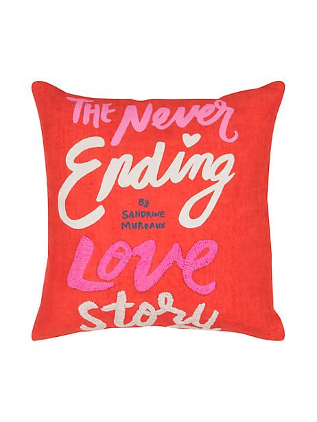 Kate Spade Neverending Love Story Pillow, Maraschino