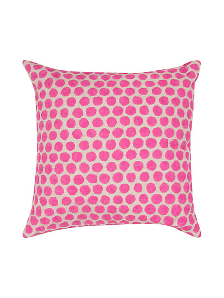 Kate Spade Embroidered Dot Pillow, Pink