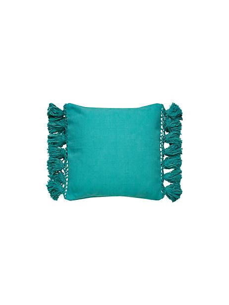 Kate Spade Tassel Pillow, Blue Turquoise