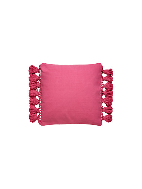 Kate Spade Tassel Pillow, Shocking Pink