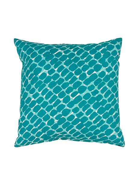 Kate Spade Dobbins Pillow, Turq