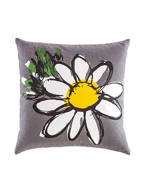 Kate Spade Yorkville Daisy Pillow, Grey