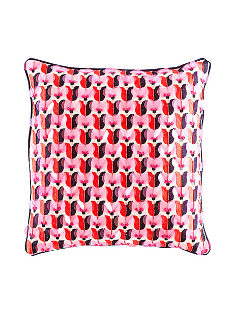 Kate Spade Yorkville Tulip Embellished Pillow, Hot Coral