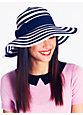 stripe sun hat, bazooka pink/clotted cream