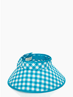 gingham roll up visor