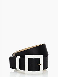 wide contrast keeper belt