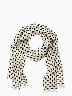 framed dot scarf
