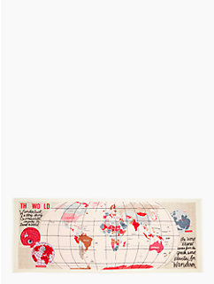 world map scarf by kate spade new york