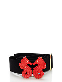 dive right in kissing seahorse elastic belt by kate spade new york